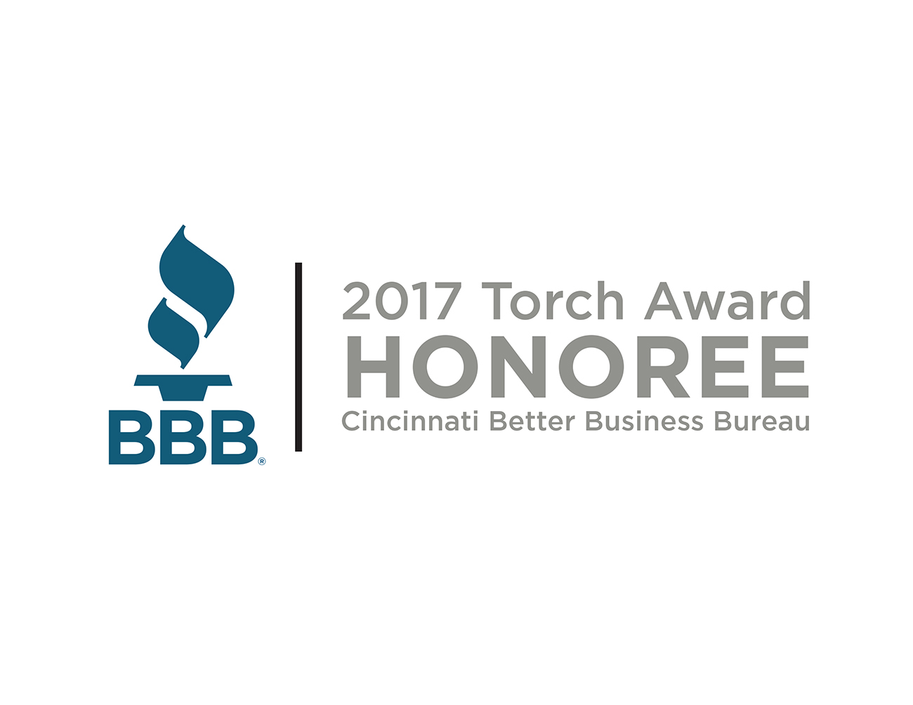 2017 Honoree, BBB Cincinnati Torch Award for Marketplace Ethics